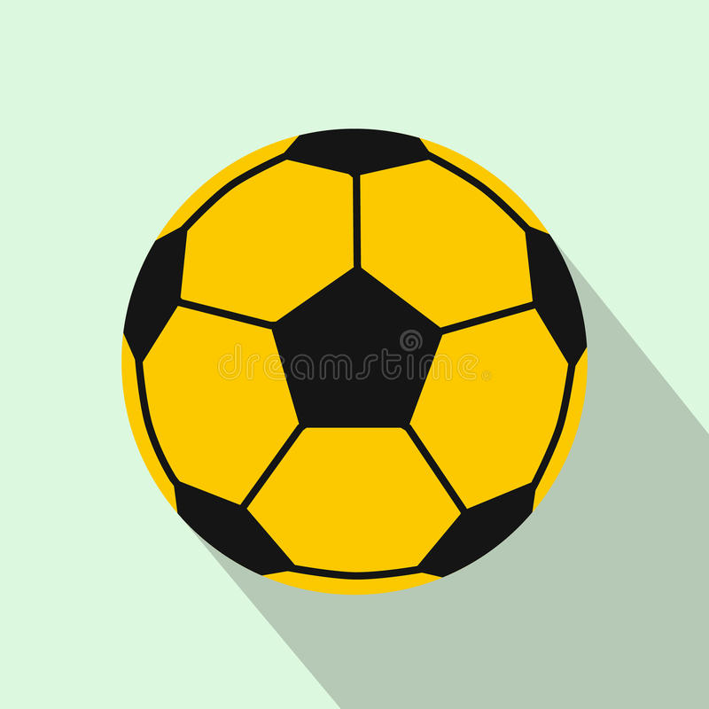 Icona del pallone da calcio, stile piano royalty illustrazione gratis