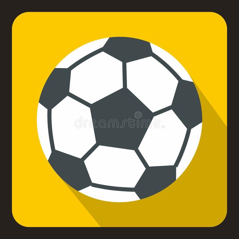 Icona del pallone da calcio, stile piano illustrazione di stock