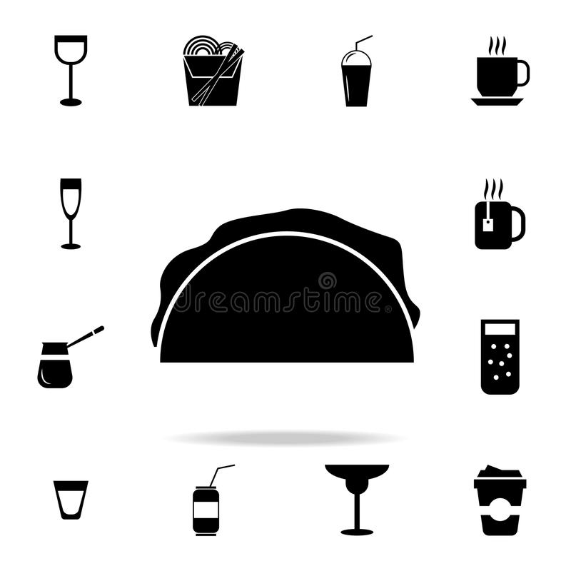 Icona del panino Insieme dettagliato delle icone della bevanda e dell'alimento Progettazione grafica di qualità premio Una delle  royalty illustrazione gratis