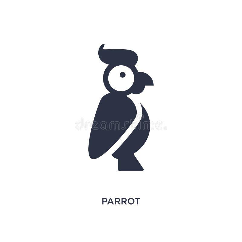 icona del pappagallo su fondo bianco Illustrazione semplice dell'elemento dal concetto di brazilia illustrazione di stock