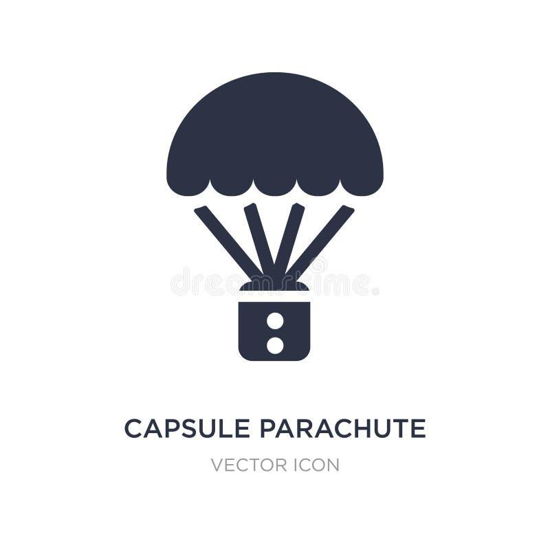 icona del paracadute della capsula su fondo bianco Illustrazione semplice dell'elemento dal concetto di astronomia illustrazione vettoriale