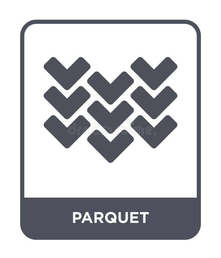 icona del parquet nello stile d'avanguardia di progettazione icona del parquet isolata su fondo bianco simbolo piano semplice e m illustrazione di stock