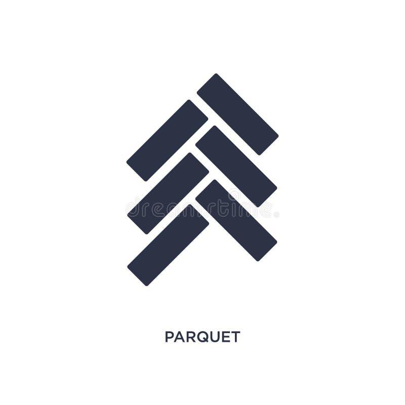 icona del parquet su fondo bianco Illustrazione semplice dell'elemento dal concetto degli strumenti della costruzione illustrazione di stock