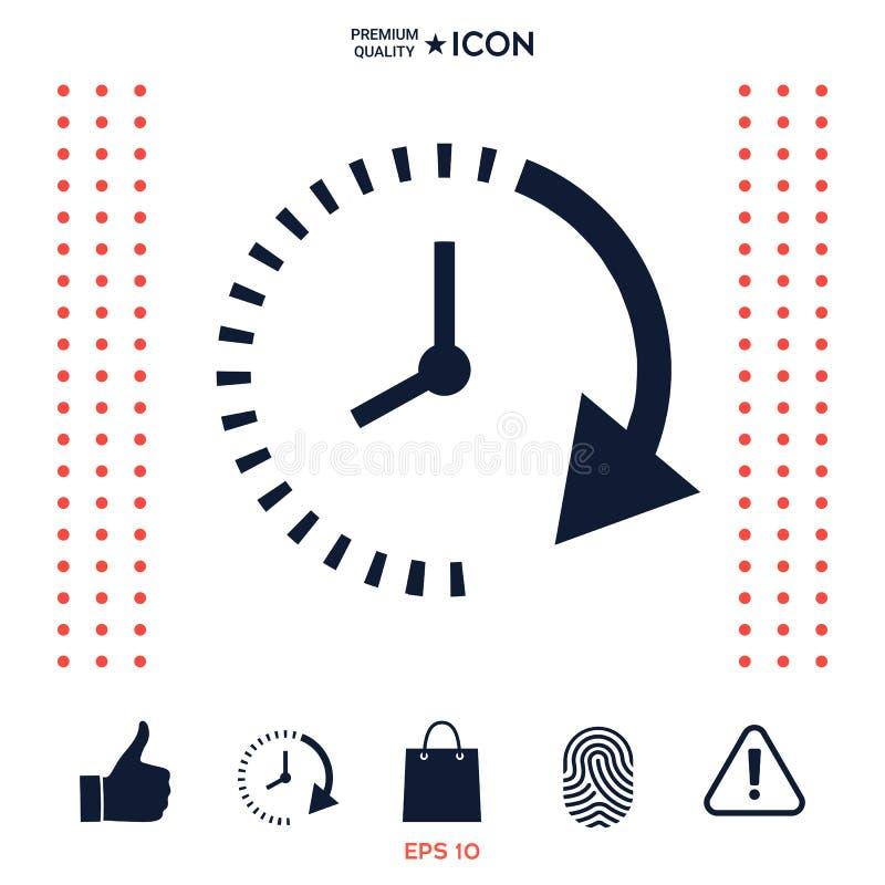 Download Icona del passo del tempo illustrazione vettoriale. Illustrazione di concetto - 117976195