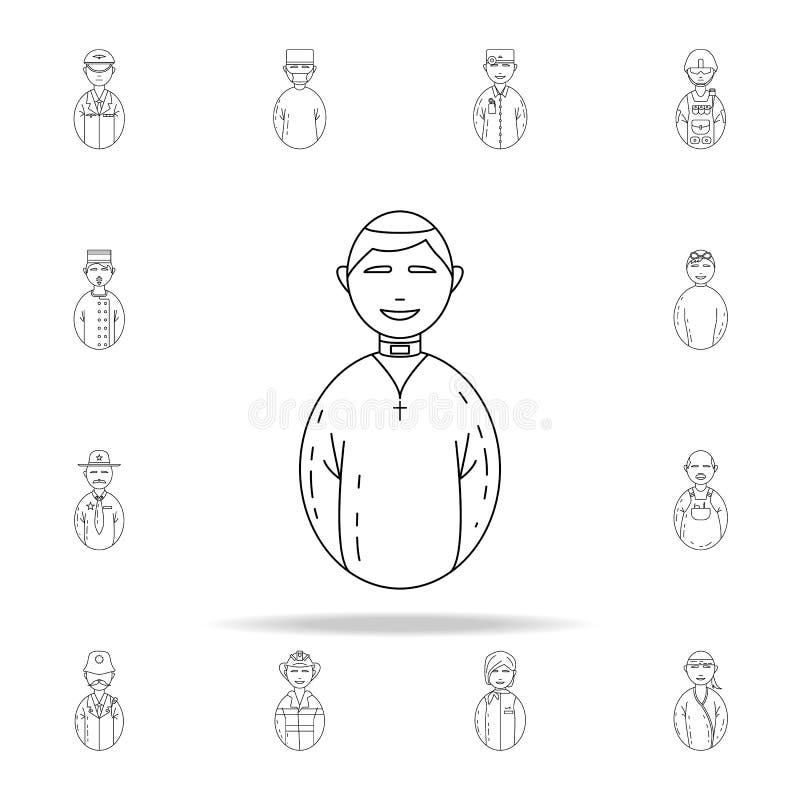 icona del pastore dell'avatar Insieme universale delle icone degli avatar per il web ed il cellulare illustrazione vettoriale