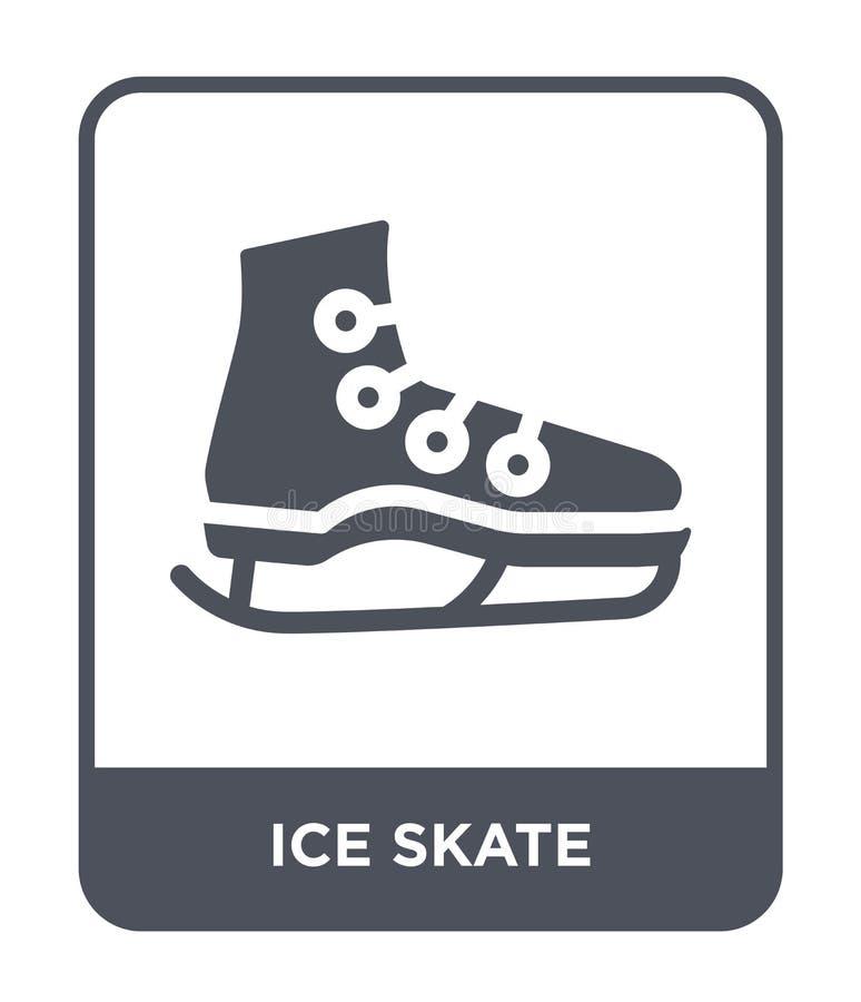 icona del pattino da ghiaccio nello stile d'avanguardia di progettazione icona del pattino da ghiaccio isolata su fondo bianco pi illustrazione di stock