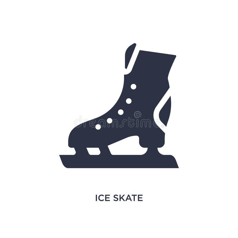 icona del pattino da ghiaccio su fondo bianco Illustrazione semplice dell'elemento dal concetto dell'hockey illustrazione vettoriale