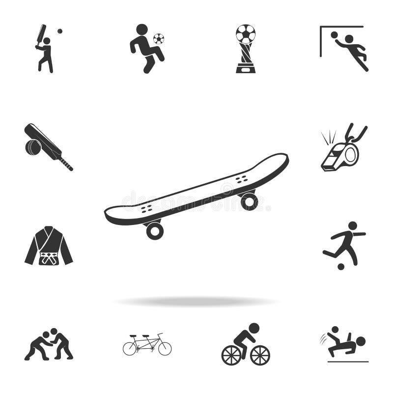 Icona del pattino Insieme dettagliato delle icone degli accessori e degli atleti Progettazione grafica di qualità premio Una dell illustrazione di stock