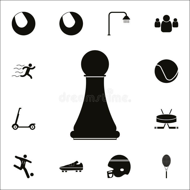 Icona del PEGNO di scacchi Insieme dettagliato delle icone di sport Segno premio di progettazione grafica di qualità Una delle ic illustrazione di stock