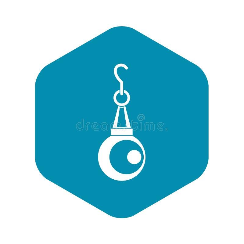 Icona del pendente della perla di bellezza, stile semplice illustrazione di stock
