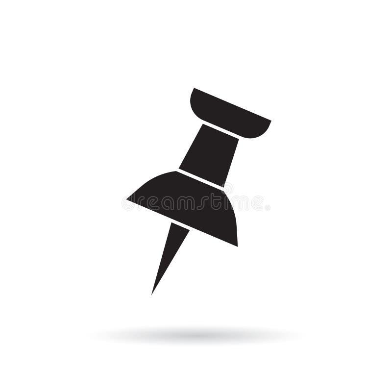 Icona del perno di disegno royalty illustrazione gratis