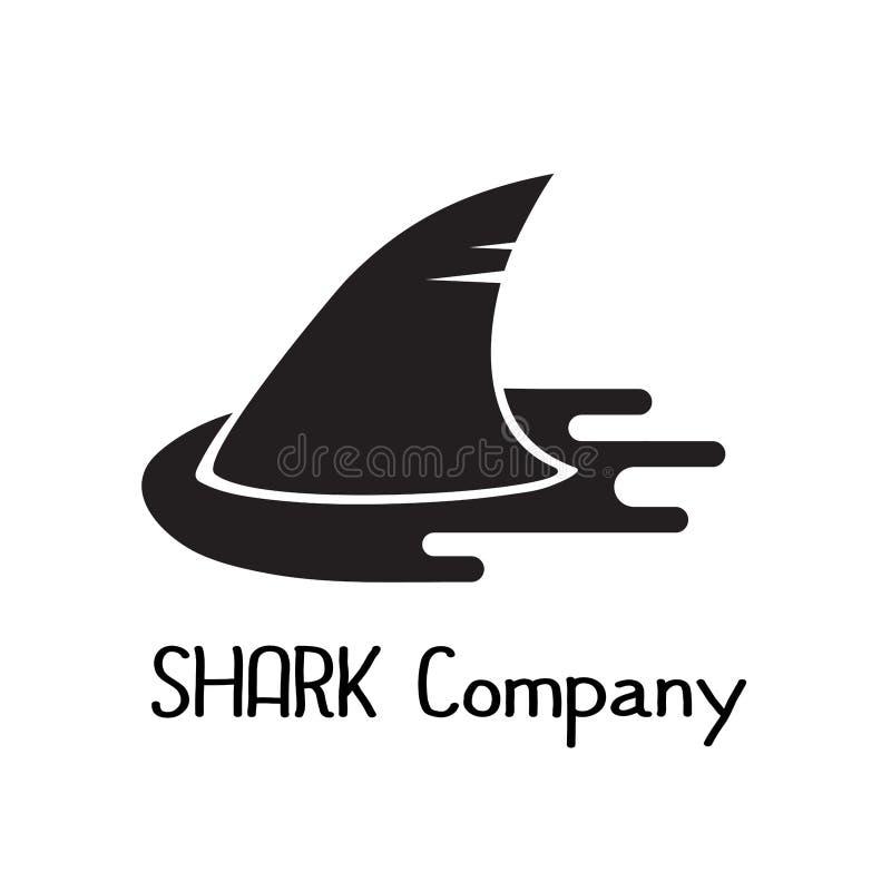 Icona del pesce della siluetta dell'aletta dello squalo immagine stock libera da diritti
