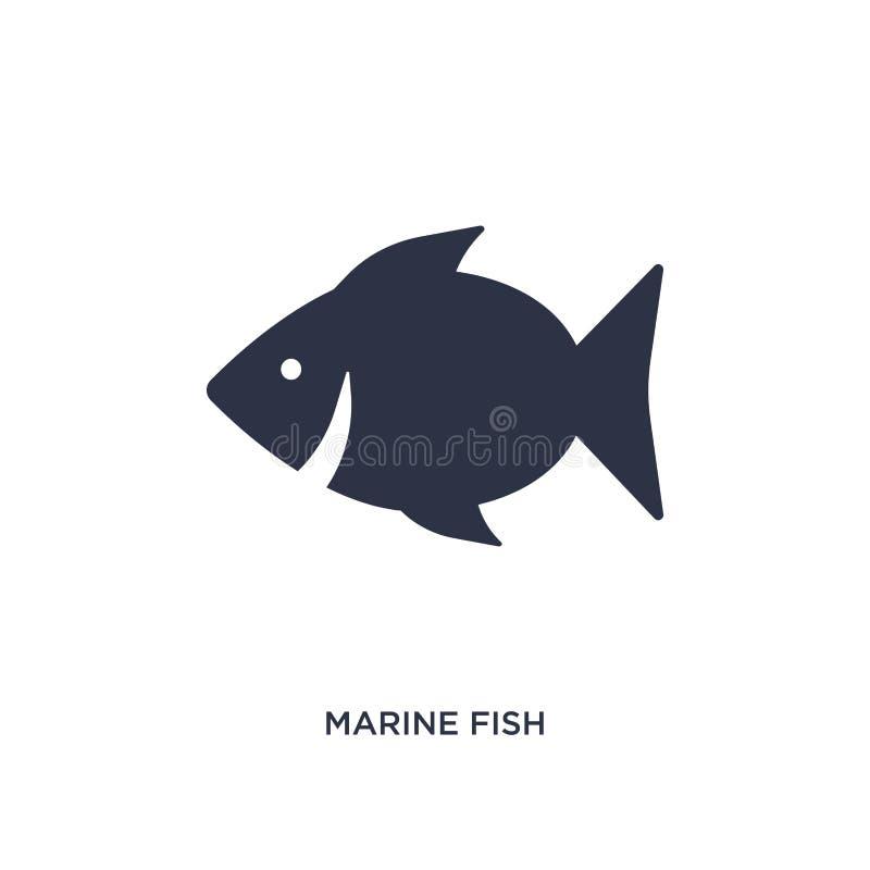 icona del pesce di mare su fondo bianco Illustrazione semplice dell'elemento dal concetto della cultura illustrazione di stock