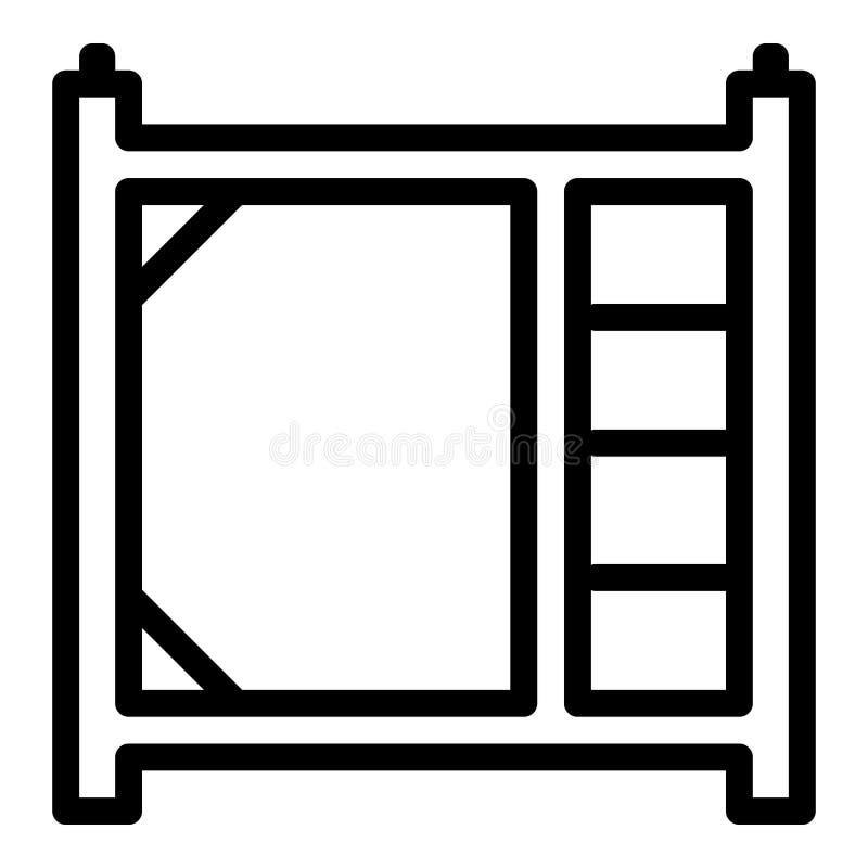 Icona del pezzo dell'armatura, stile del profilo illustrazione vettoriale