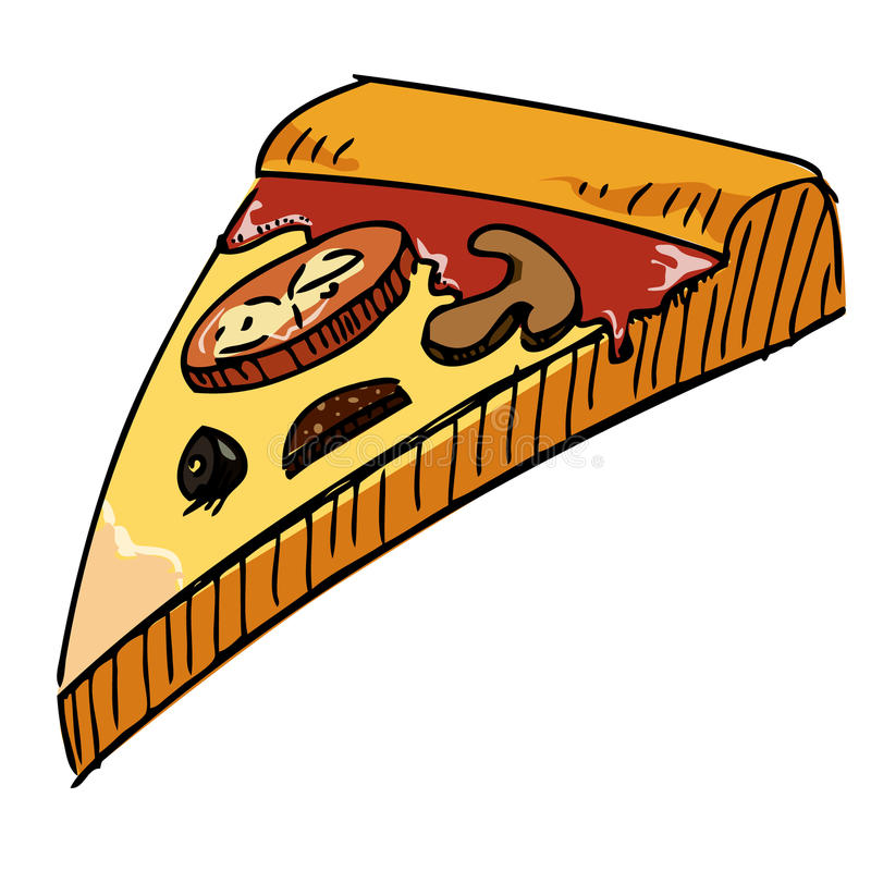 Icona del pezzo della pizza illustrazione di stock