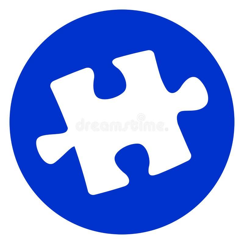 Icona del pezzo del puzzle illustrazione di stock