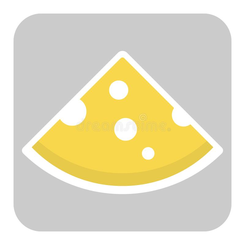 Icona del pezzo tagliato del formaggio royalty illustrazione gratis