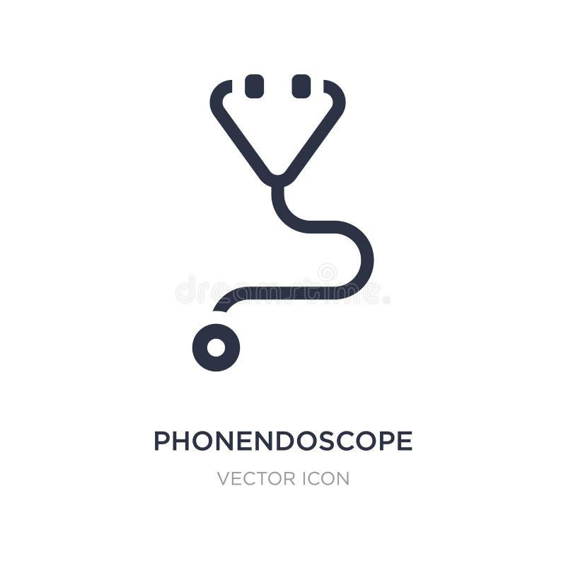 icona del phonendoscope su fondo bianco Illustrazione semplice dell'elemento dal concetto igienico sanitario royalty illustrazione gratis