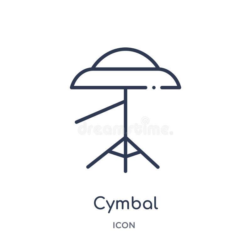 Icona del piatto dalla raccolta del profilo di musica Linea sottile icona del piatto isolata su fondo bianco royalty illustrazione gratis