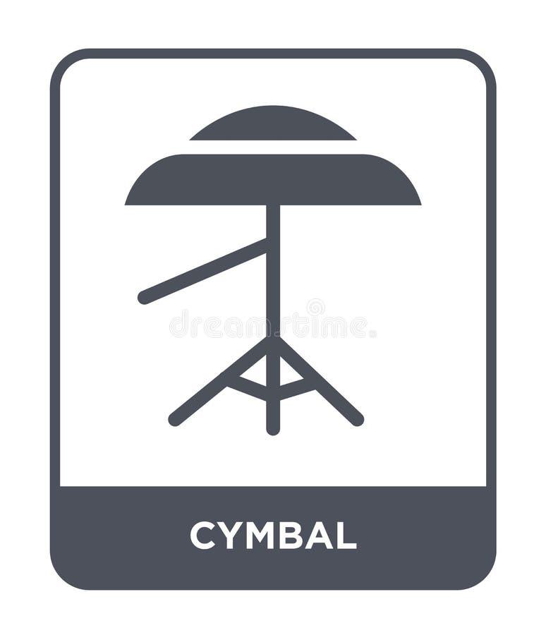 icona del piatto nello stile d'avanguardia di progettazione icona del piatto isolata su fondo bianco simbolo piano semplice e mod royalty illustrazione gratis