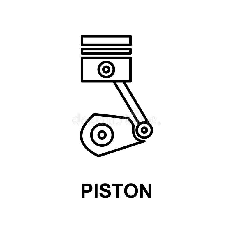 Icona del pistone dell'automobile Elemento della riparazione dell'automobile per i apps mobili di web e di concetto L'icona detta illustrazione vettoriale