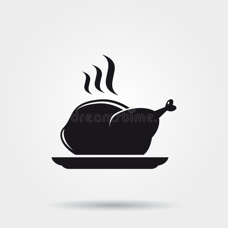 Icona del pollo illustrazione di stock