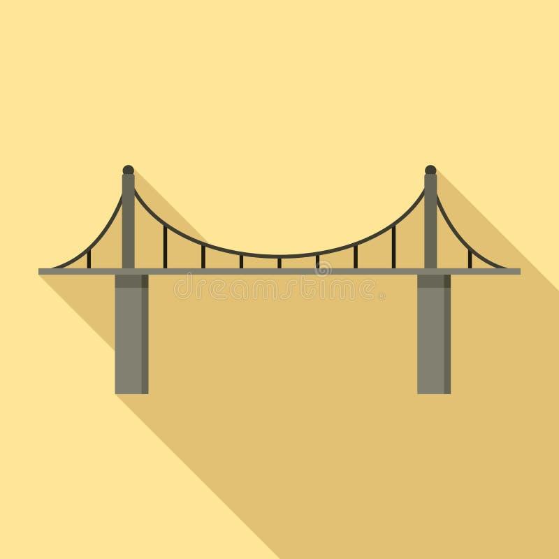 Icona del ponte del parco, stile piano illustrazione di stock