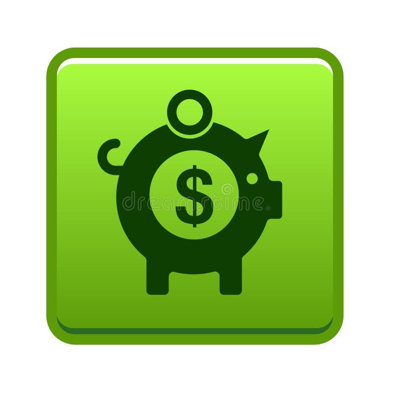 Icona del porcellino salvadanaio di risparmio dei soldi illustrazione vettoriale