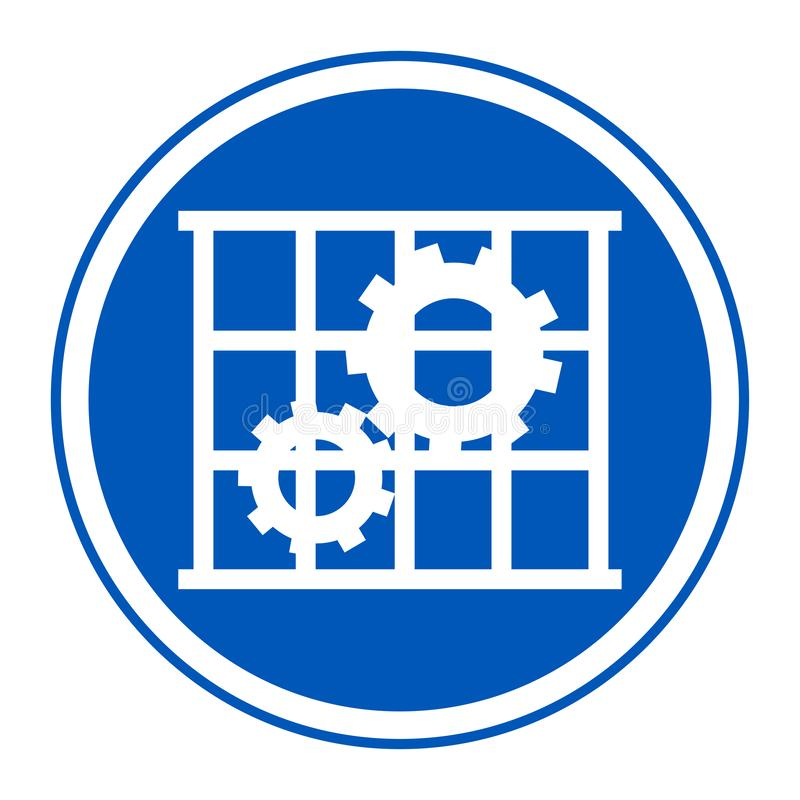 Icona del PPE L'uso custodice l'isolato del segno di simbolo della protezione su fondo bianco, illustrazione ENV di vettore 10 royalty illustrazione gratis