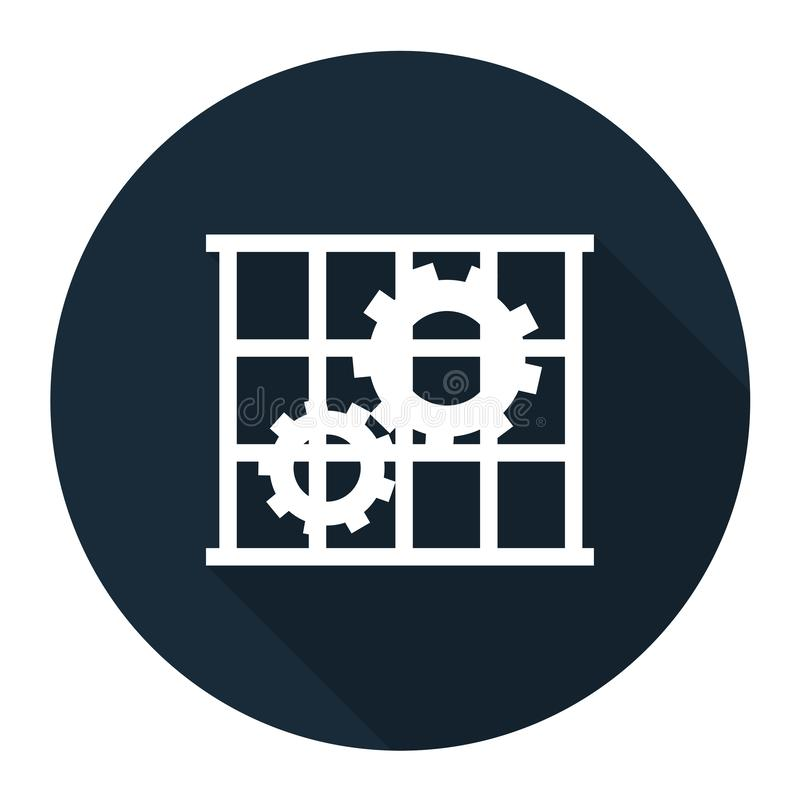 Icona del PPE L'uso custodice l'isolato del segno di simbolo della protezione su fondo bianco, illustrazione ENV di vettore 10 illustrazione di stock