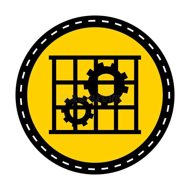 Icona del PPE L'uso custodice l'isolato del segno di simbolo della protezione su fondo bianco, illustrazione di vettore illustrazione di stock