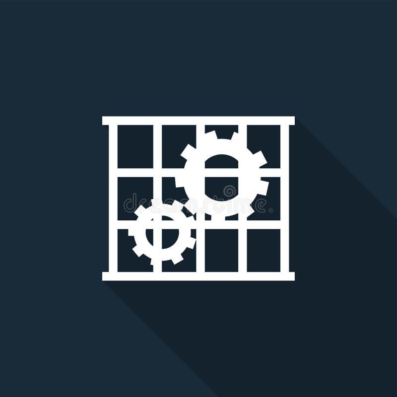 Icona del PPE L'uso custodice l'isolato del segno di simbolo della protezione su fondo nero, illustrazione di vettore illustrazione vettoriale