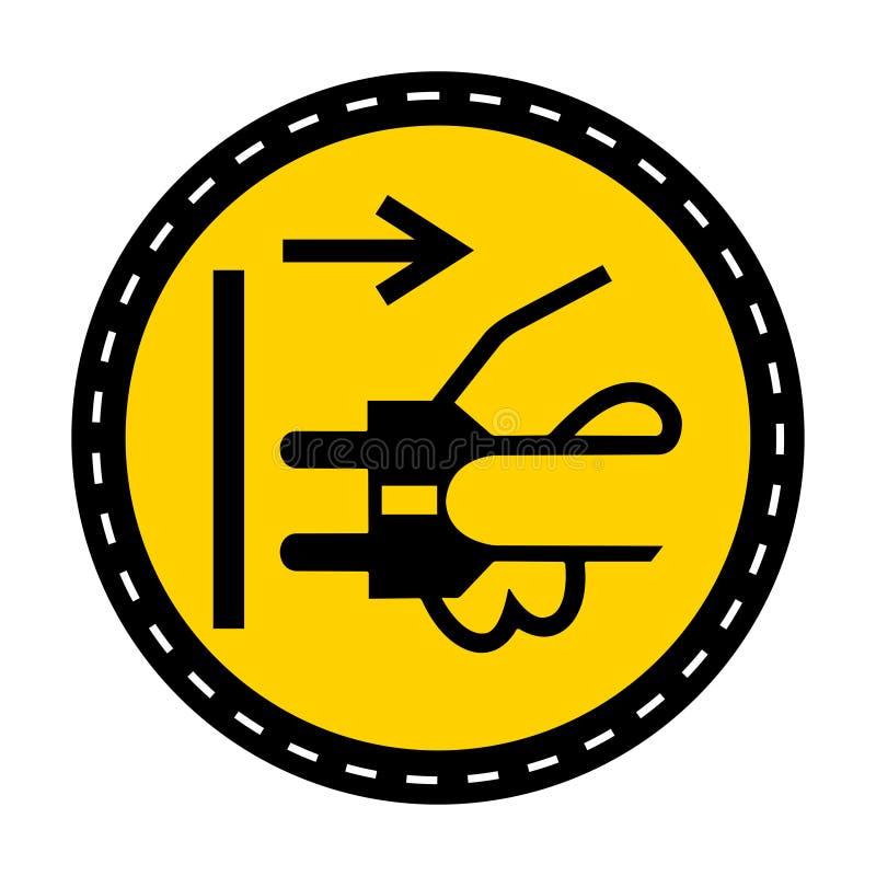 Icona del PPE Le condutture di sconnessione tappano dall'isolato elettrico del segno di simbolo dello sbocco su fondo bianco, ill royalty illustrazione gratis