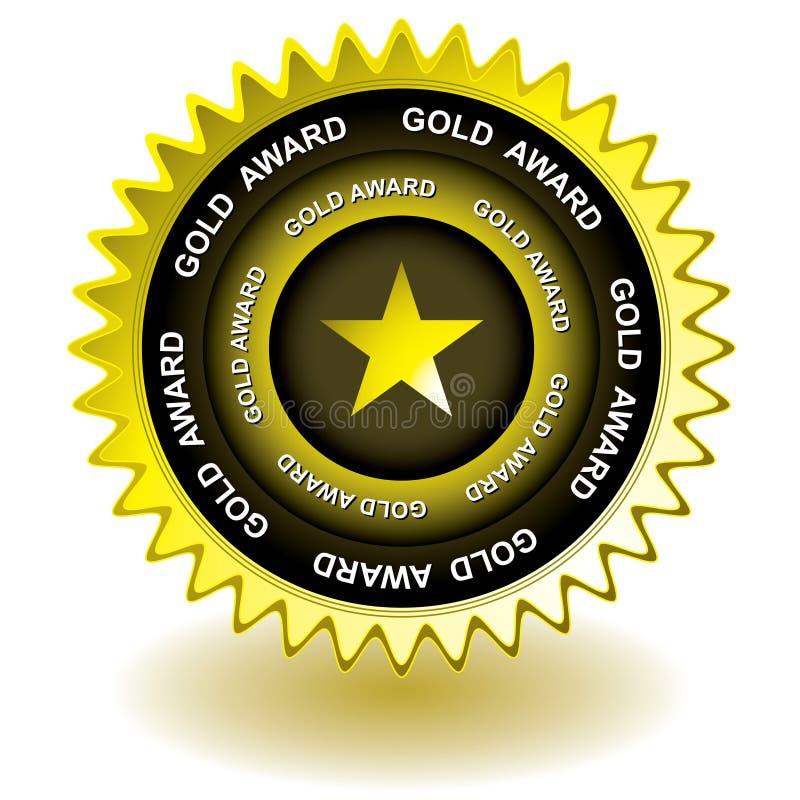 Icona del premio dell'oro illustrazione di stock