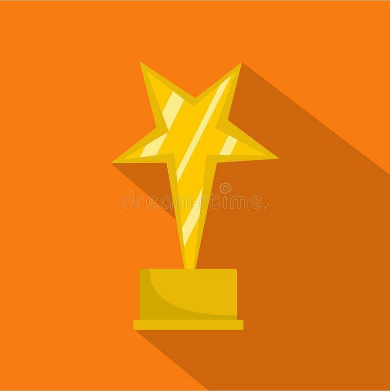 Icona del premio della stella piana illustrazione di stock