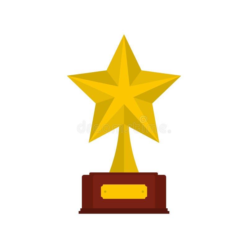 Icona del premio della stella piana illustrazione vettoriale