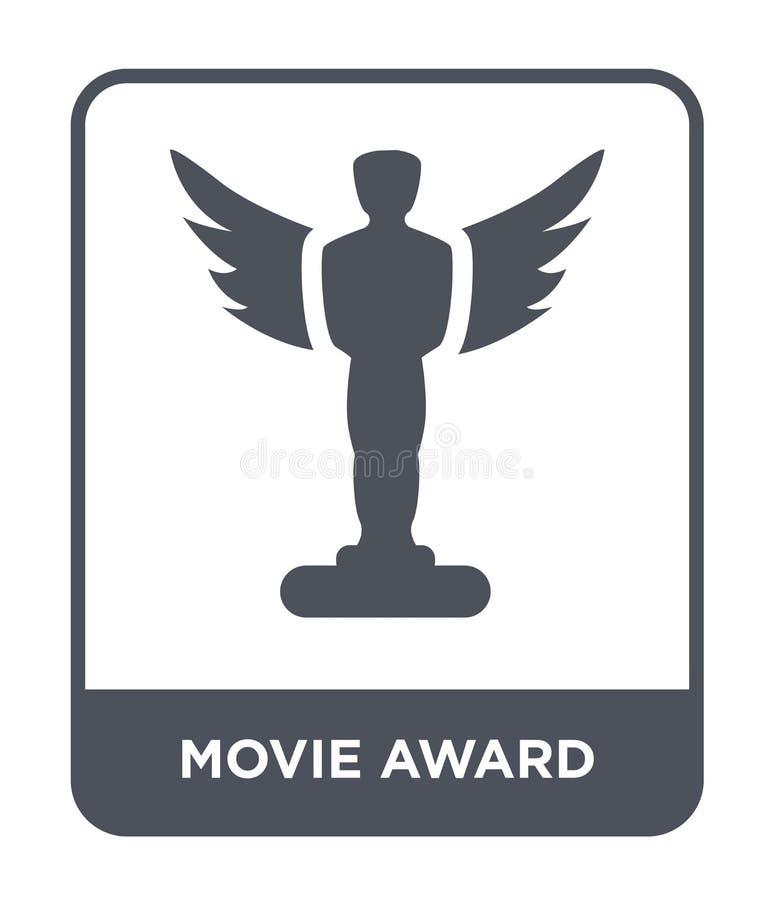 icona del premio di film nello stile d'avanguardia di progettazione Icona del premio di film isolata su fondo bianco icona di vet royalty illustrazione gratis