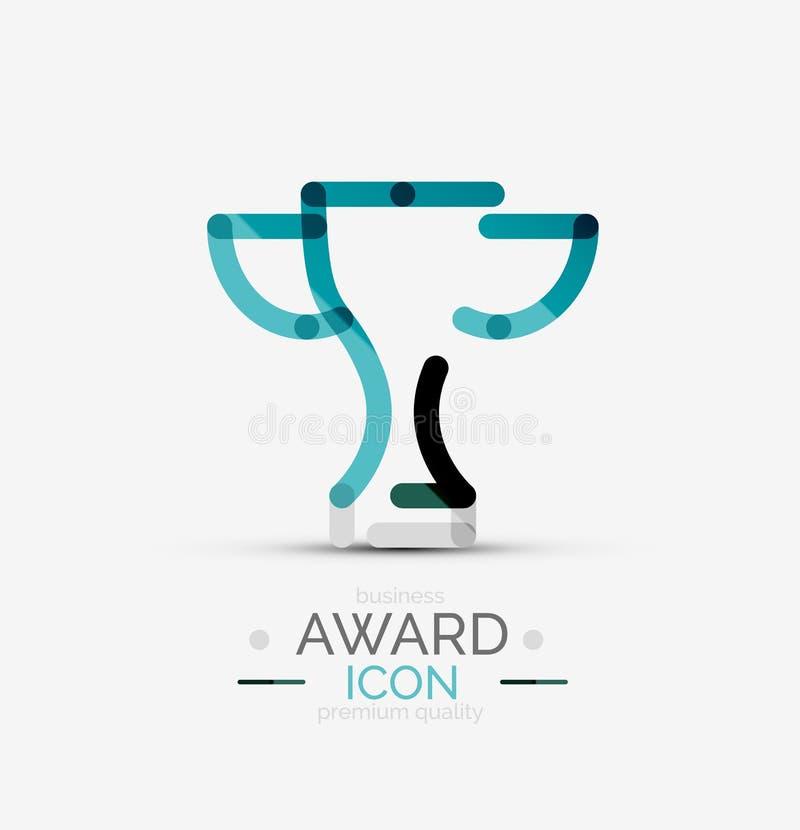Icona del premio, logo illustrazione di stock