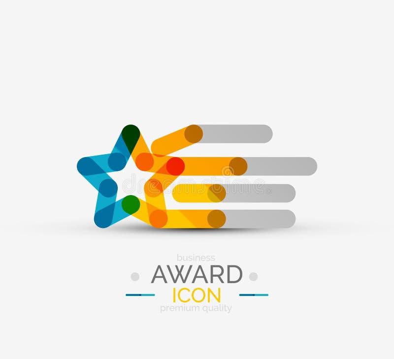 Icona del premio, logo illustrazione vettoriale