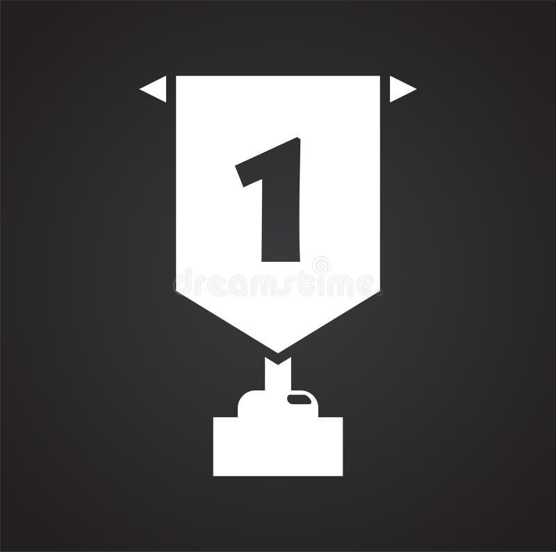 Icona del premio su fondo per il grafico ed il web design Segno semplice di vettore Simbolo di concetto di Internet per il botton illustrazione vettoriale