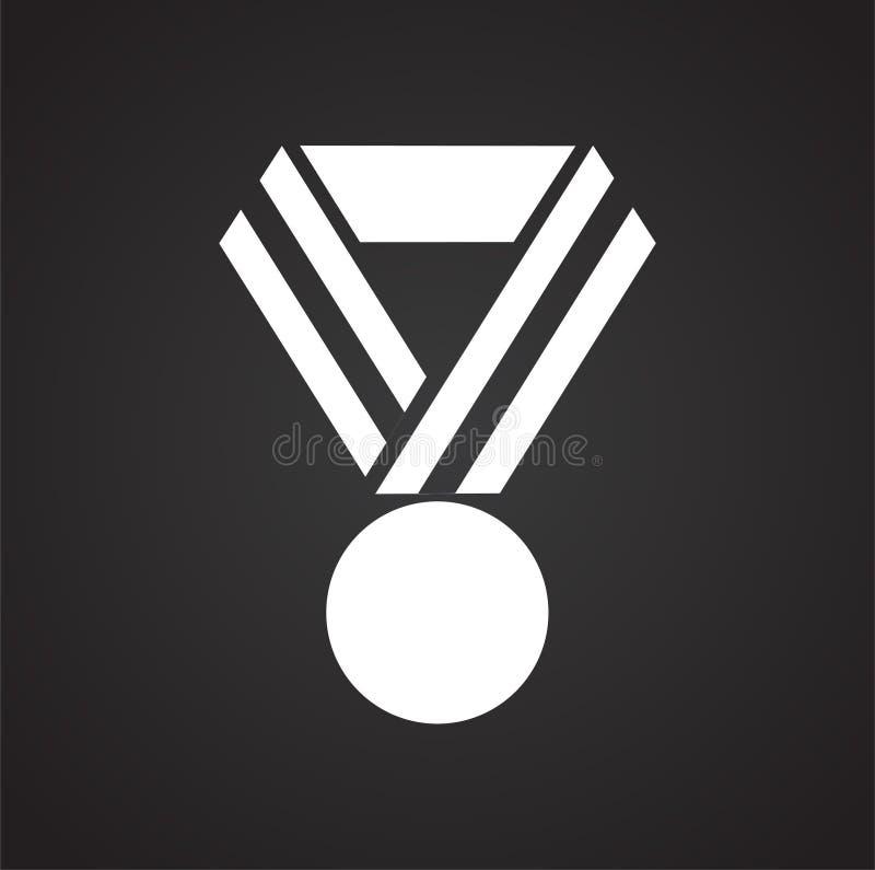 Icona del premio su fondo per il grafico ed il web design Segno semplice di vettore Simbolo di concetto di Internet per il botton royalty illustrazione gratis