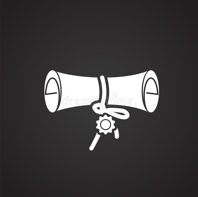 Icona del premio su fondo per il grafico ed il web design Segno semplice di vettore Simbolo di concetto di Internet per il botton illustrazione di stock