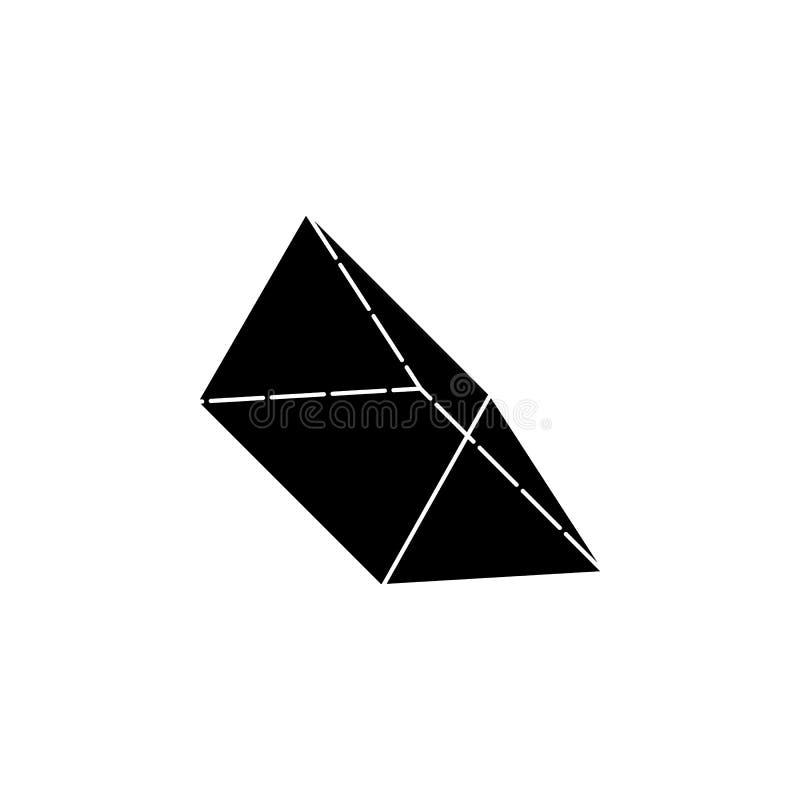 Icona del prisma triangolare Elementi della figura geometrica icona per i apps di web e di concetto Icona dell'illustrazione per  illustrazione di stock