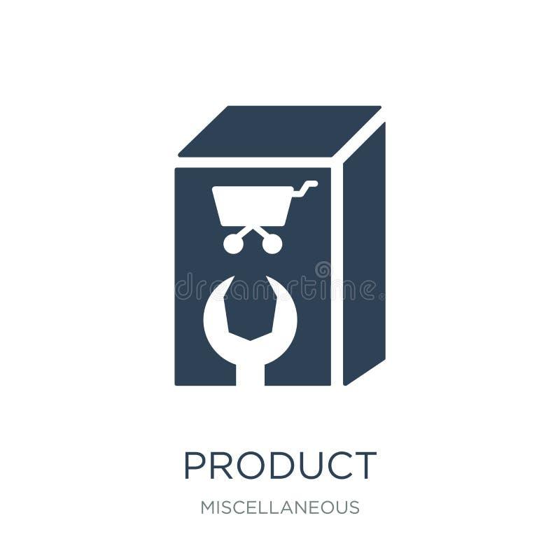 icona del prodotto nello stile d'avanguardia di progettazione Icona del prodotto isolata su fondo bianco simbolo piano semplice e royalty illustrazione gratis