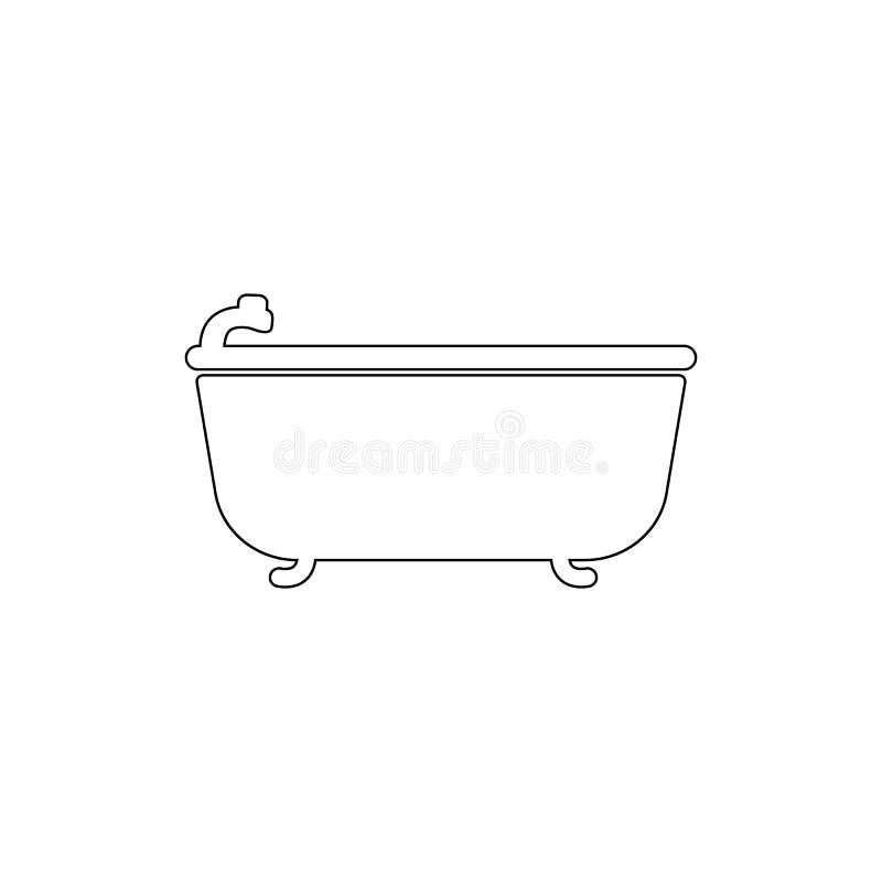 Icona del profilo del bagno Icona dell'elemento di sauna e del bagno Progettazione grafica di qualit? premio Segni, icona della r illustrazione vettoriale