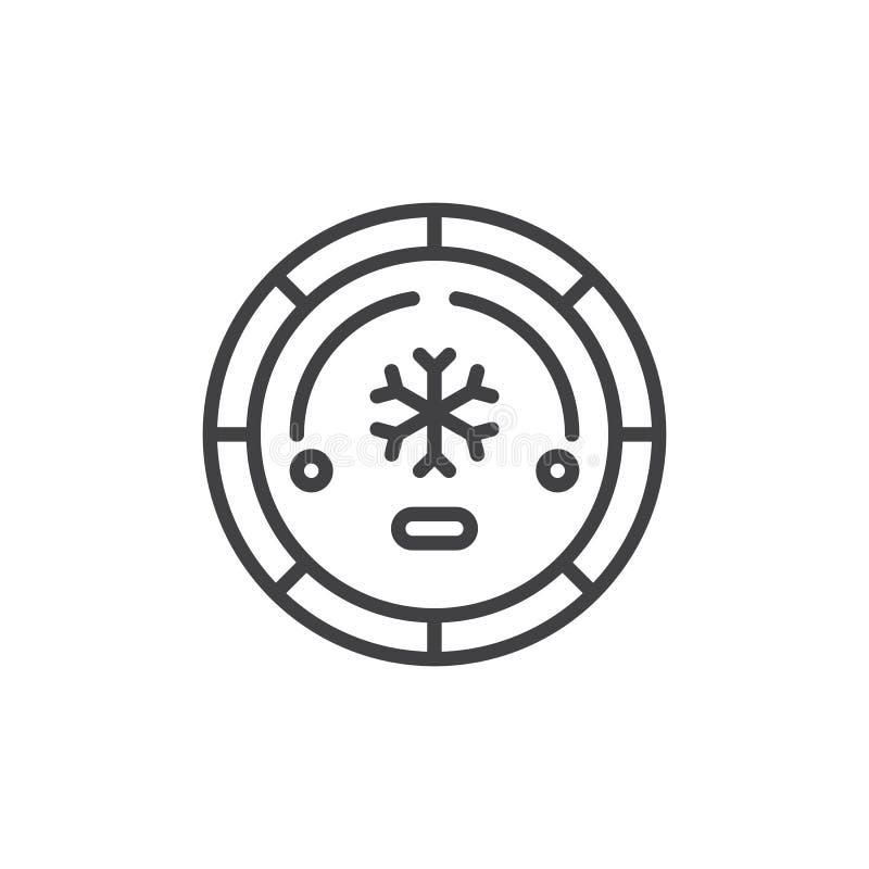 Icona del profilo del bottone del condizionamento d'aria royalty illustrazione gratis