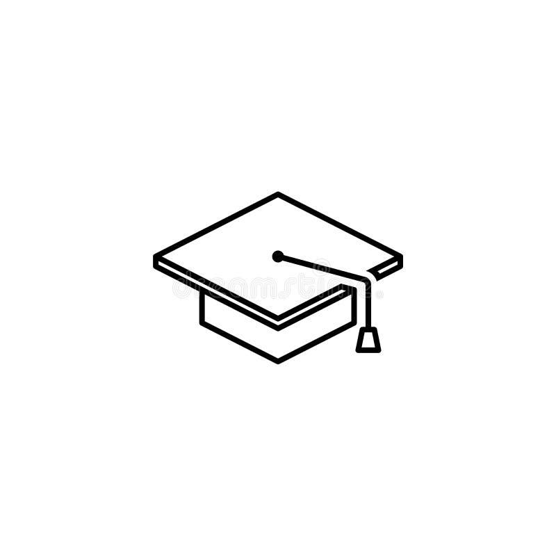 Icona del profilo del cappuccio di graduazione royalty illustrazione gratis
