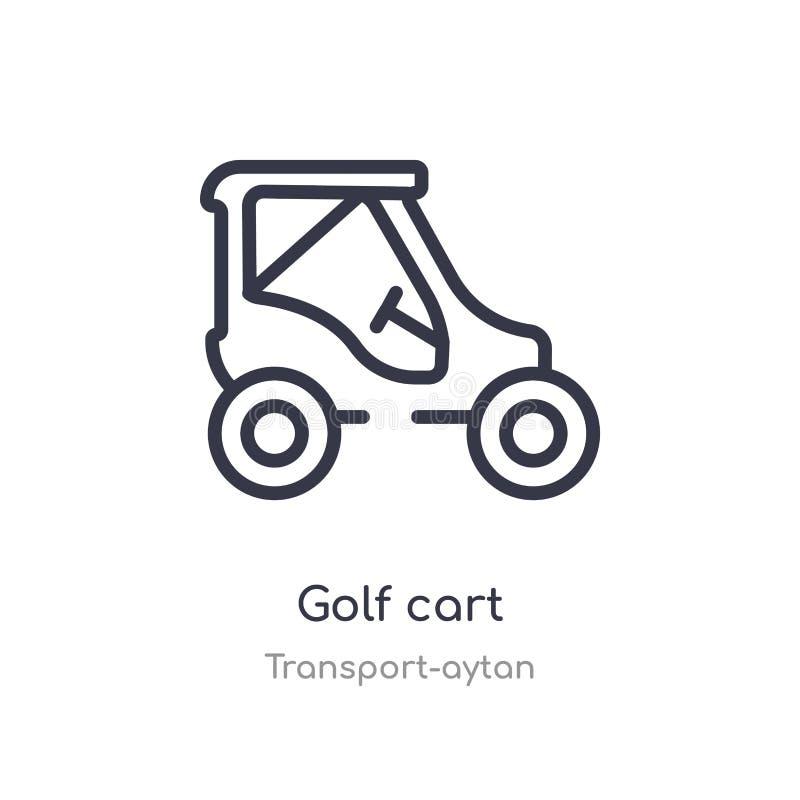 icona del profilo del carretto di golf linea isolata illustrazione di vettore dalla raccolta di trasporto-aytan icona sottile edi illustrazione di stock