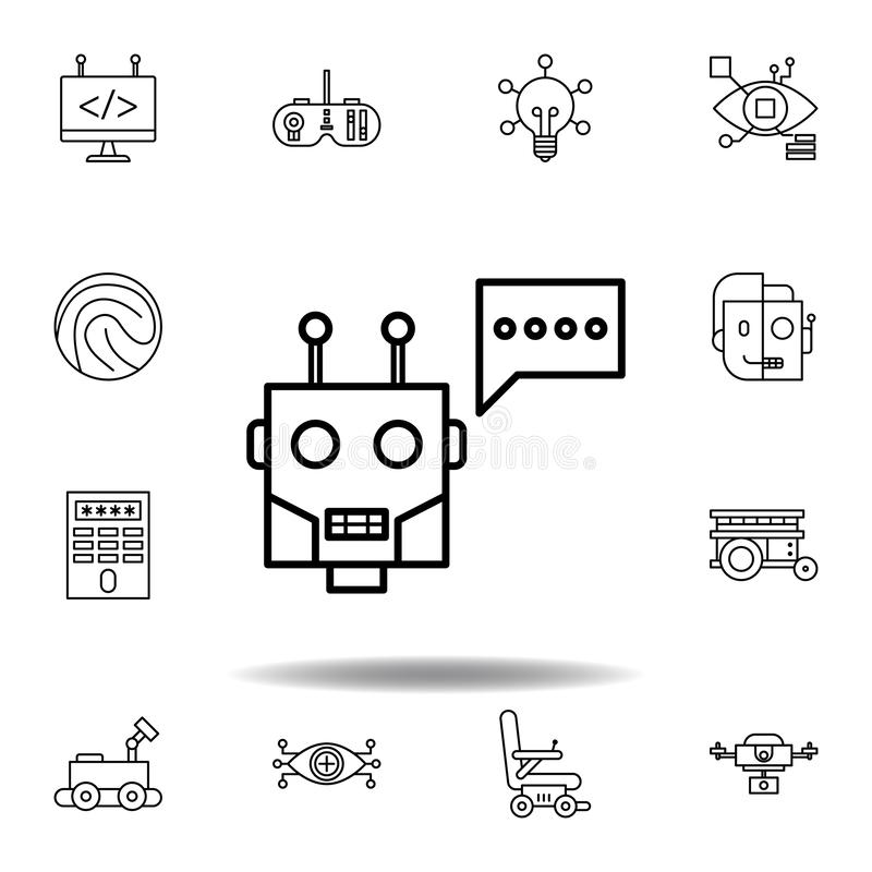 Icona del profilo del chatbot di robotica metta delle icone dell'illustrazione di robotica i segni, simboli possono essere usati  illustrazione di stock