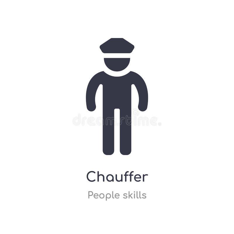 icona del profilo del chauffer linea isolata illustrazione di vettore dalla raccolta di abilità della gente icona sottile editabi illustrazione vettoriale
